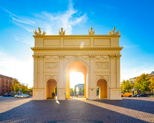 Potsdam Brandenburger Straße Brandenburger Tor Brandenburg Schopenhauerstraße Luisenplatz Deutschland Stadttor