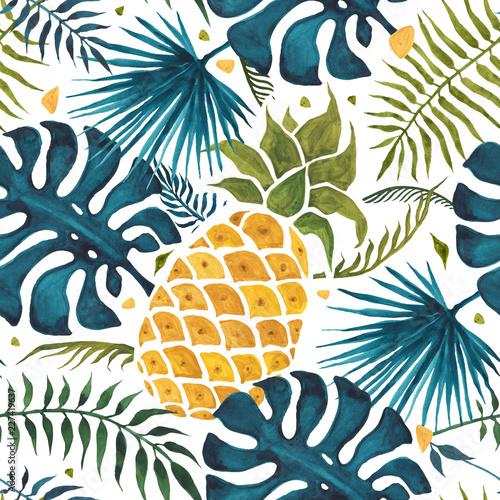 ananasowy-tlo-recznie-rysowane-ilustracji