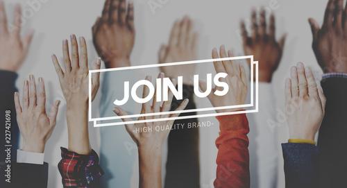 Fotografía Join Us Recruitment Employment Hiring Concept