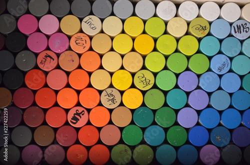 Fényképezés  Bombes de peinture - nuancier de couleur
