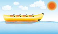 Banana Inflatable Boat For Wat...