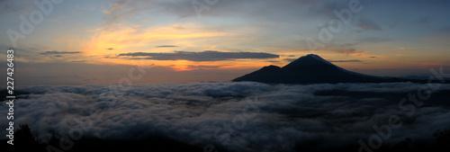 Spoed Foto op Canvas Bali Sunrise on the top of Mount Batur - Bali, Indonesia