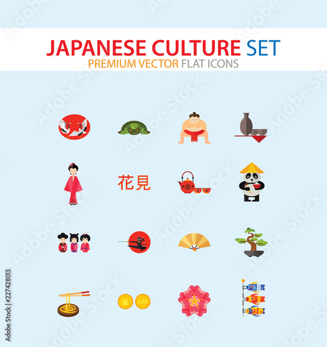 Fototapeta  Japanese Culture Icon Set