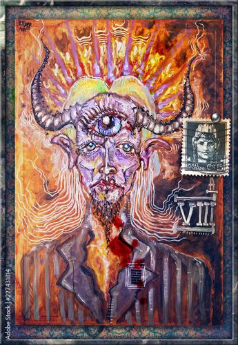 Foto op Aluminium Imagination Pan. Dio della mitologia classica greca