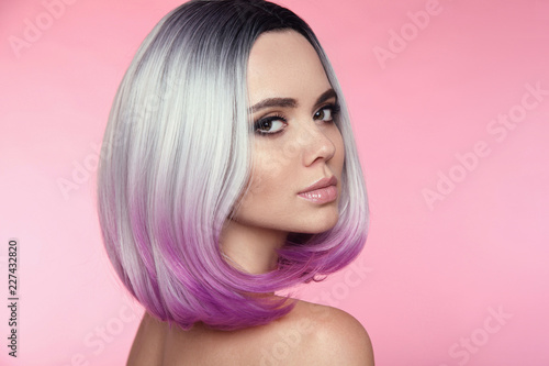 Foto Ombre bob short hairstyle