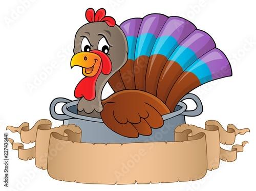 Turkey bird in pan theme banner 1