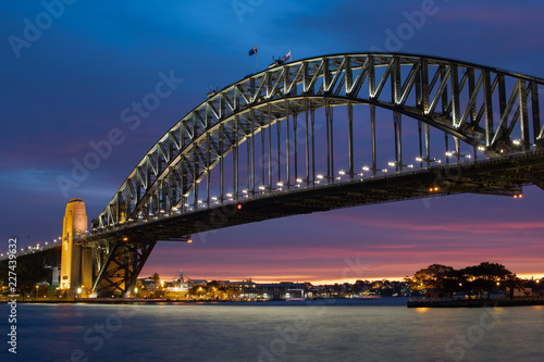 Deurstickers Australië Sydney Harbour Bridge Sunset