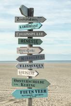 Wegweiser Strand Holland
