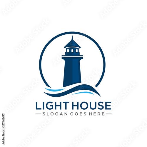 Photo Lighthouse logo template