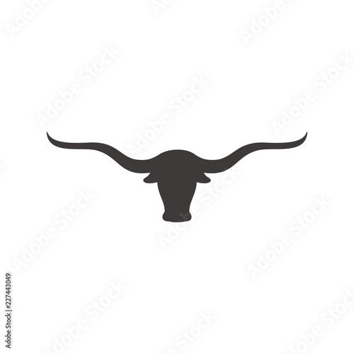 Fotomural Long horn vector