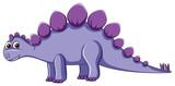 Fototapeta Dinusie - Cute purple dinosaur character