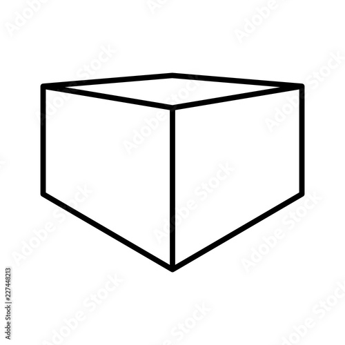 Stereograph Cube Dimension Perspective Geometry vector icon