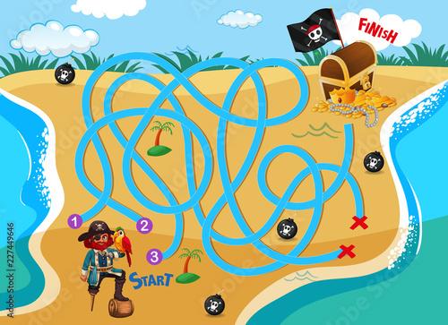 Staande foto Kids Pirate find way to treasure