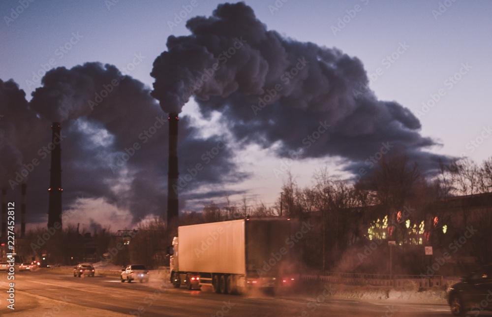 Fototapeta environmental pollution in the city