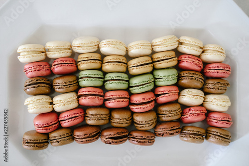 french macarons in a box
