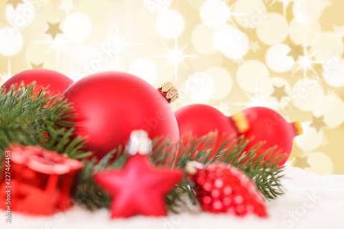 Weihnachtsdeko Gold.Weihnachten Rote Weihnachtskugeln Weihnachtsdeko
