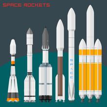 Space Rockets Set . Comparativ...