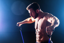 Muscular Fitness Man Antique P...