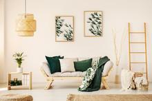 Bright Living Room Interior Wi...
