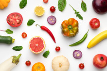 Wallpaper Abstract Composition Of Fruits And Vegetables