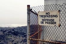 No Trespassing Sign On Rocky C...