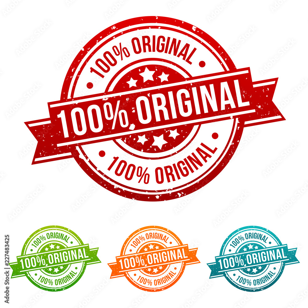 Fototapeta 100% Original Stamp Button Banner Badge in different colours.
