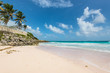 Tropical beach on the Caribbean island - Crane Beach, Barbados. The beach has been named as one of the ten best beaches in the world and it has the pink-tinged sands.