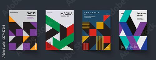 Fotografía Retro geometric covers design. Swiss modernism. Eps10 vector.
