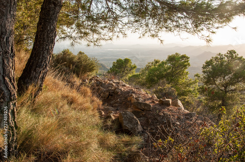 Poster Natuur mountain landscape, nature walk and beautiful views of mediterranean landscapes