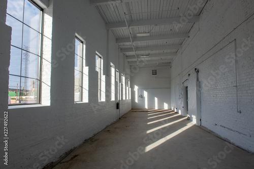 Fotografie, Tablou  White wall corridor