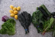 Vegetables And Lemons