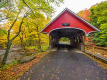 Covered Bridge In Lincoln, New...