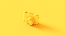 Yellow Vintage Camera 3d Illustration 3d Render