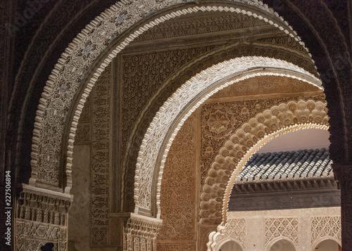 Fototapeta voûtes ceintrees palais nasride alhambra grenade