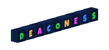 Deaconess - Multi-colored Text...