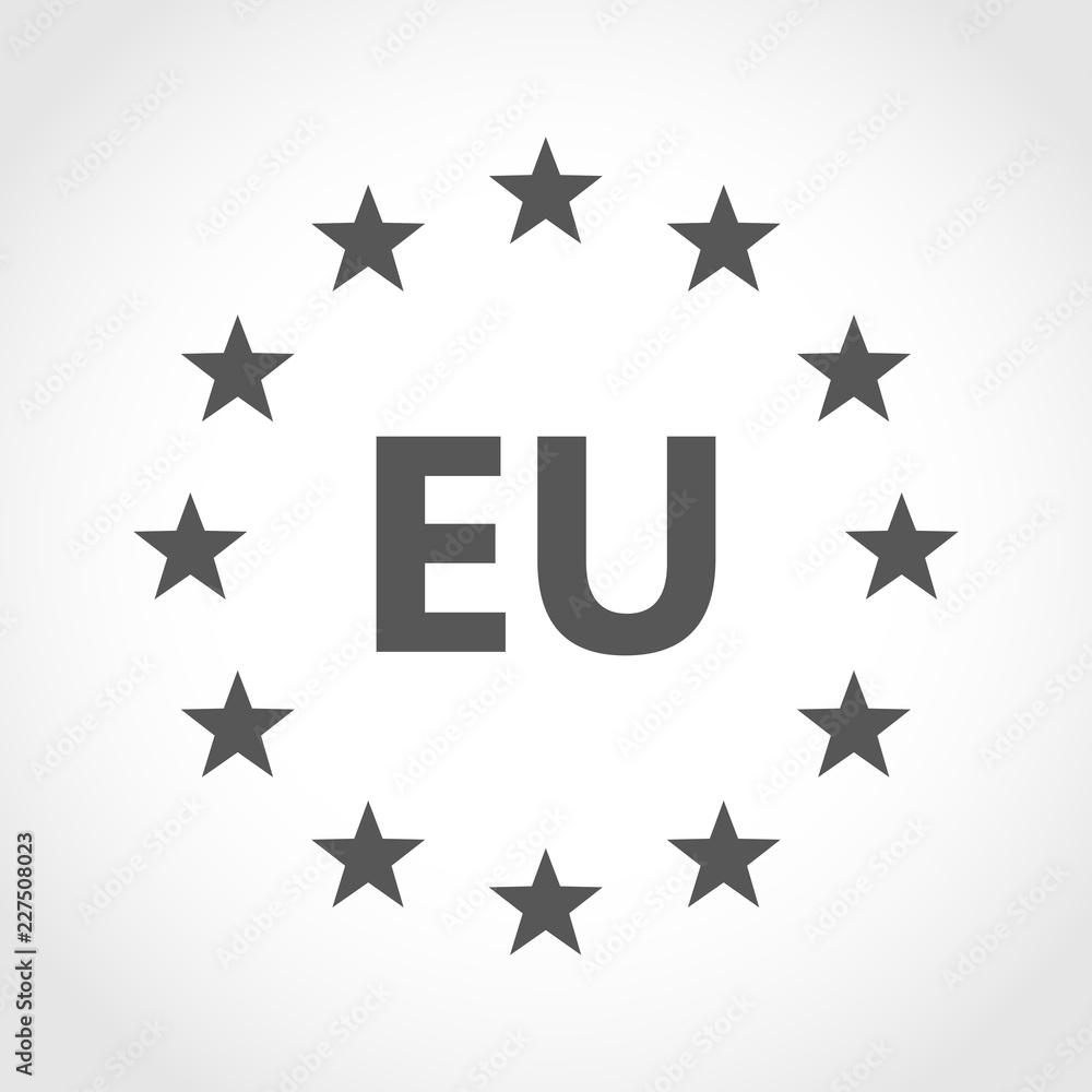 Fototapeta European union icon. Vector illustration.