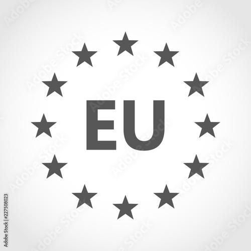 Fototapeta European union icon. Vector illustration. obraz