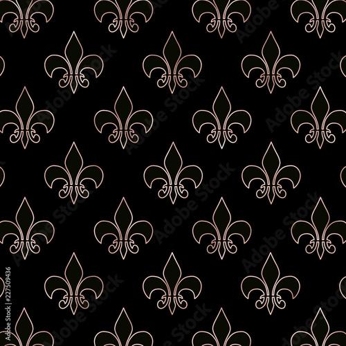 Rose Gold Fleur De Lis Wallpaper Digital Background Comprar