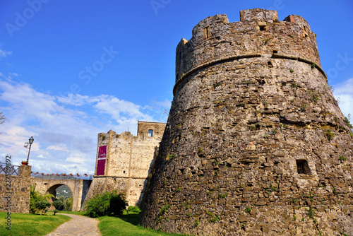 Foto op Aluminium Kasteel Aragonese castle of Agropoli Salerno Italy
