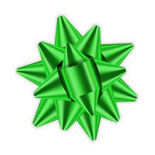 Green Bow Ribbon 3d Decor Elem...