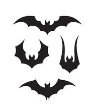 Fruit Bat. Isolated Bat On White Background