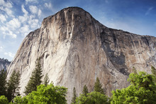 Low Angle View Of Half Dome Rock, Yosemite National Park, California, USA