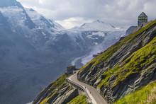 Pasterze Glacier. Grossglockner High Alpine Road . Austria.