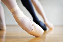 Low Section Of Ballet Dancer In Studio