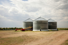 Grain Silo On Field