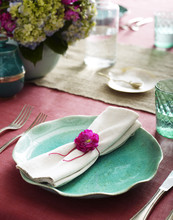 Napkin On Plate At Table