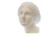 Gypsum Head Of Ancient Greek Y...