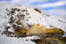 Winter Landscape With Hot Springs