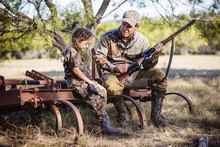 Father And Daughter In Hunting...
