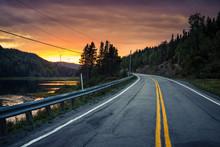 Sunset On The Road Somewhere I...